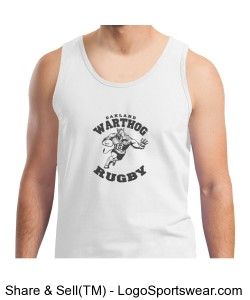 White Warthog Tank Top Design Zoom